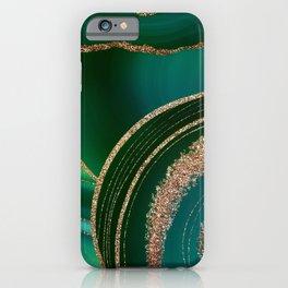 Emerald Marble Glamour Landscape iPhone Case