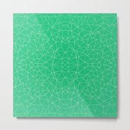 Abstract Collide Emerald Green Metal Print