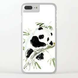 Baby Panda Clear iPhone Case