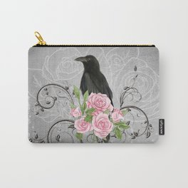 Wonderful crow with flowers Carry-All Pouch