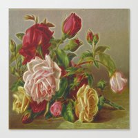 vintage flowers Canvas Prints featuring Vintage Flowers by Lucia