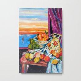 Still life homage to Cezanne Metal Print