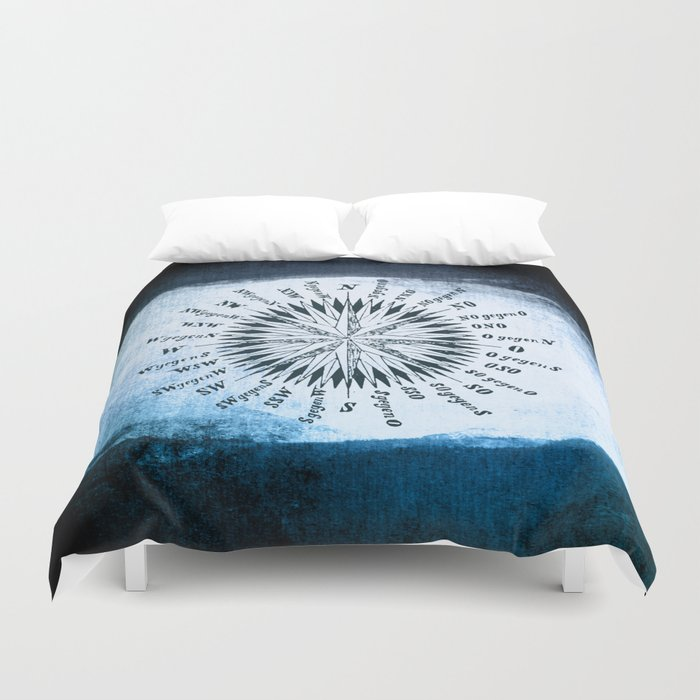 Windrose blue version Duvet Cover