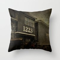 orphan black Throw Pillows featuring Orphan Train by Curt Saunier