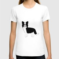 border collie T-shirts featuring Border Collie  by Heroinax