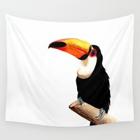 toucan Wall Tapestries featuring Toucan by Bridget Davidson