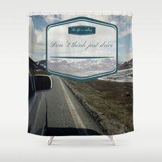 Roadtrip in norway Shower Curtain