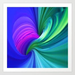 Twisting Forms #1 Art Print