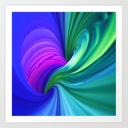 Twisting Forms #1 Art Print