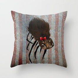 Ms. Spider Throw Pillow