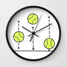 Bouncing Balls - Tennis love Wall Clock