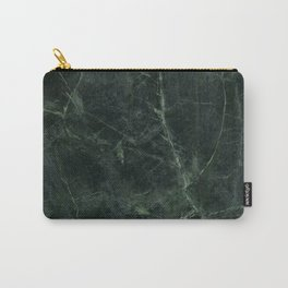 Dark Green Marble Carry-All Pouch