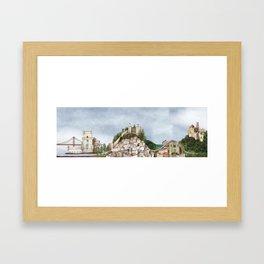 Lisboa landscape Framed Art Print