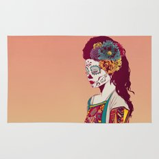 Mexican Skull Lady Rug