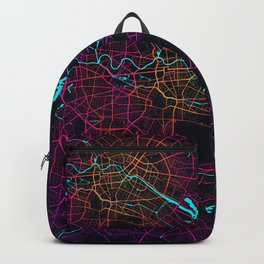 Berlin City Map of Germany - Neon Backpack