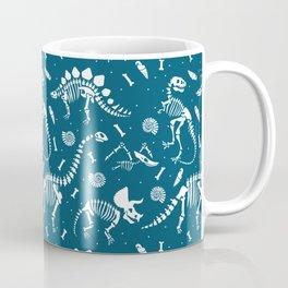 Dinosaur Fossils in Blue Coffee Mug