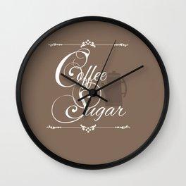Coffee & Sugar Wall Clock