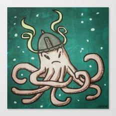 Viking Octopus Canvas Print
