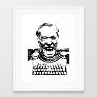 bukowski Framed Art Prints featuring Bukowski  by The_Starving_Artist