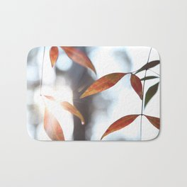 Orange Leaves in the Sunlight Bath Mat