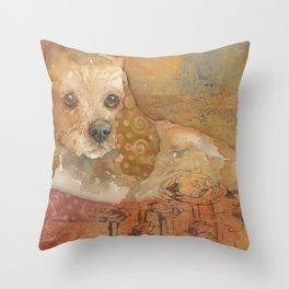 The Cozy Cocker Throw Pillow