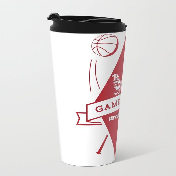 Gamecock Archives Primary Logo Metal Travel Mug