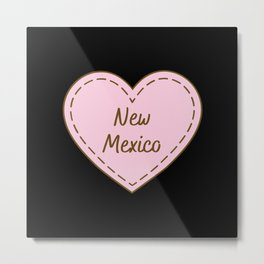 I Love New Mexico Simple Heart Design Metal Print
