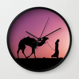 Purple Walkin Wall Clock