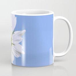 White Cosmos Flower Coffee Mug