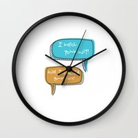 parks and recreation Wall Clocks featuring Parks and Recreation by Elanor Jarque