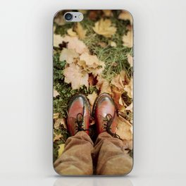 Shoes And Leaves iPhone Skin