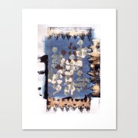 kilim Canvas Prints featuring Burnt Kilim by BINSUBU