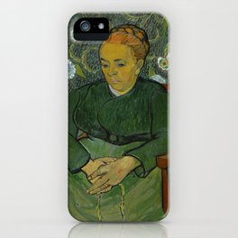 Vincent Van Gogh - La berceuse, Portrait of Madame Roulin iPhone Case