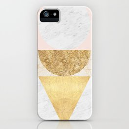 Gold Geometry V iPhone Case