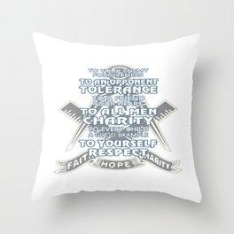 Faith - Hope - Charity Throw Pillow