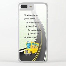 Wheels on the Bus Clear iPhone Case