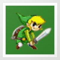 Link - Legobricks Art Print