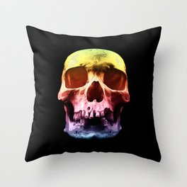 Pop Art Skull Face Throw Pillow