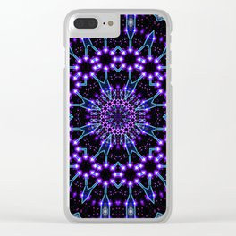 Light Structures Mandala Clear iPhone Case