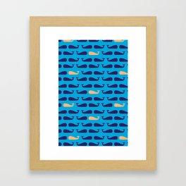 Whales by Jacki Spiegel Framed Art Print