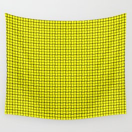 Bright Yellow Weave Pattern Design Wall Tapestry