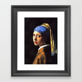 Girl with a Pearl Earring After Johannes Vermeer Framed Art Print