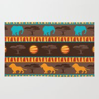 african Area & Throw Rugs featuring African Pattern by Robin Curtiss