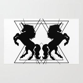trash unicorns Rug