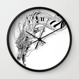 Falling dragon Wall Clock
