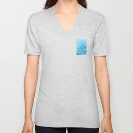 Hoar Frost: Diagonal Feathers Unisex V-Neck
