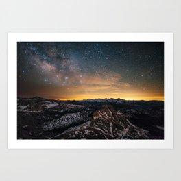 Matthes Crest Milky Way Art Print
