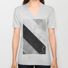 Contemporary Marble Stone Rays Unisex V-Neck