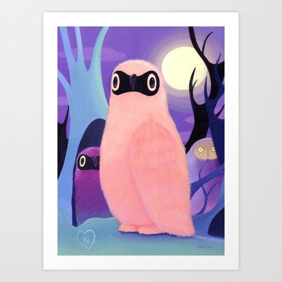 Moon Willow  Art Print