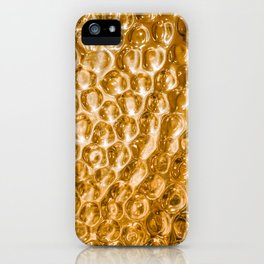 Hammered copper metal texture iPhone Case